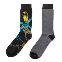 DC Comics Batman Men's Size 10-13 Crew Socks 2 Pack New! - $9.28