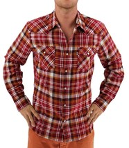 NEW LEVI'S MEN'S CLASSIC LONG SLEEVE BUTTON UP SHIRT PLAID RED 3LYLW0062C image 1