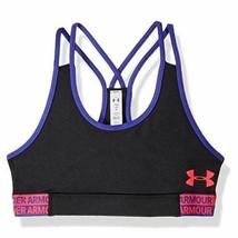 Under Armour NWT Big Girls Heat Gear Bra Black Size Large Racer Back KD351 - $17.81