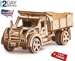 TRUCK Jeep Mechanical 3D Wooden Puzzles DIY Toy Assembly Gears Construct... - $55.67