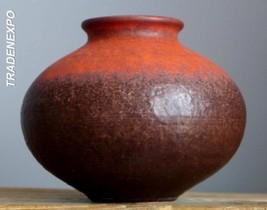 RETRO Vintage 60-70's JASBA KERAMIK Orange Ball Vase West German Fat Lav... - $21.77