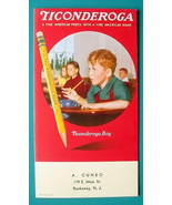 TICONDEROGA PENCILS Pupils in School American Name - 1950s INK BLOTTER AD - $8.55