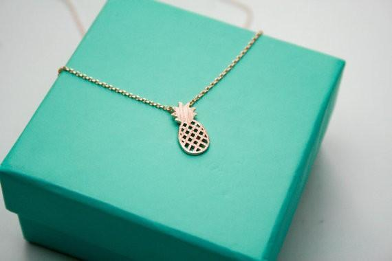 Shuangshuo Pineapple Theme Pendant / Necklace Link with Chain for Ladies / Women image 4
