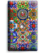 MEXICAN TALAVERA TILES DESIGN LIGHT DIMMER CABLE WALL PLATES KITCHEN ROO... - $10.99
