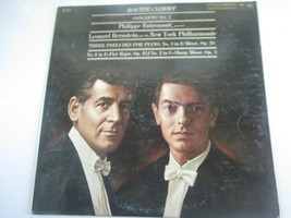 Rachmaninoff Concerto #2 Entremont Piano Bernstein NY Philharmnic 33 rpm... - £17.67 GBP
