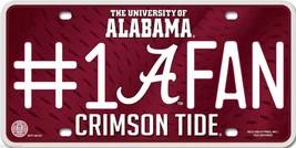 University of Alabama Crimson Tide #1 Fan Metal License Plate Auto Tag Sign - $8.95