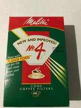 Melitta #4 Cone Coffee Filters  100 count  NEW!! - $8.42