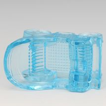Vintage Novelty Glass LG Wright Blue Carriage Ashtray image 3