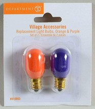 Dept. 56 Replacement Light Bulbs ORANGE & PURPLE New in Package 810803 H... - $9.99