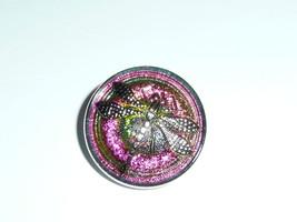 Vitrail Pink & Green w/ Silver Finish Czech Glass Dragonfly Shank Button... - $6.92