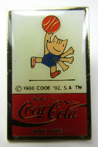 Vintage Coca Cola Coke Beba Barcelona 1992 Olympics Lapel Pins Track, Swimming image 4