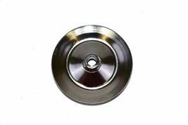 55-72 GM Chevy Power Steering Pump Pulley Steel Key-Way Saginaw Pump. Chrome image 2