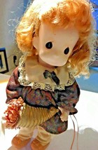 """Vtg 1981 Precious Moments 12"""" Rubber Growing Up Birthday Girls Doll w Tag - $19.95"""