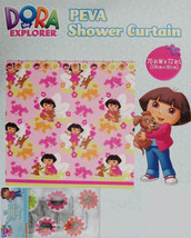 DORA THE EXPLORER AND PUPPY SHOWER CURTAIN AND 12 HOOKS BATHROOM SET NEW - $33.81