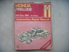 Honda Prelude, Haynes Repair Manual, Service Guide 1979-1989. Book - $8.91