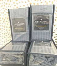 Fieldcrest 500 thread count Stripe Satin  King Pillowcases Rig Blue -NEW! -Sizes image 2