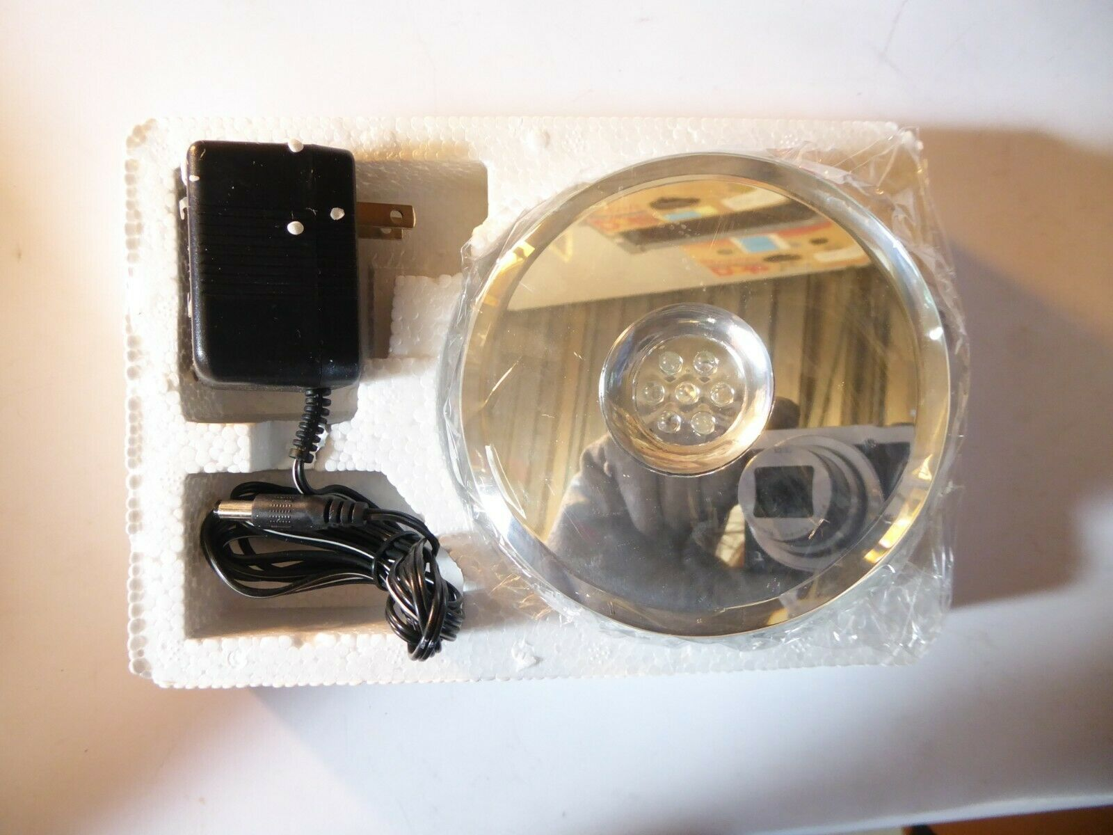 Crystal Rotary Slide Show Multi Color Lights New