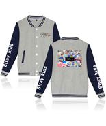XXS-4XL Stray Kids All Member Printed Baseball Jacket Buckle Outwear Tops - $19.00+