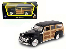 1948 Ford Woody Wagon Black 1/43 Diecast Model Car by Road Signature - $22.39