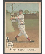 1959 Fleer Ted Williams Story #13 Ted Shows He Will Stay Boston Red Sox - $9.99