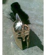 Nauticalmart Greek Corinthian Helmet with Plume Brass Ancient Helmet Rep... - $147.51