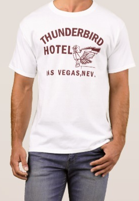 Thunderbird t shirt 100% cotton boxing hotel gym sonny liston ali heavyweight