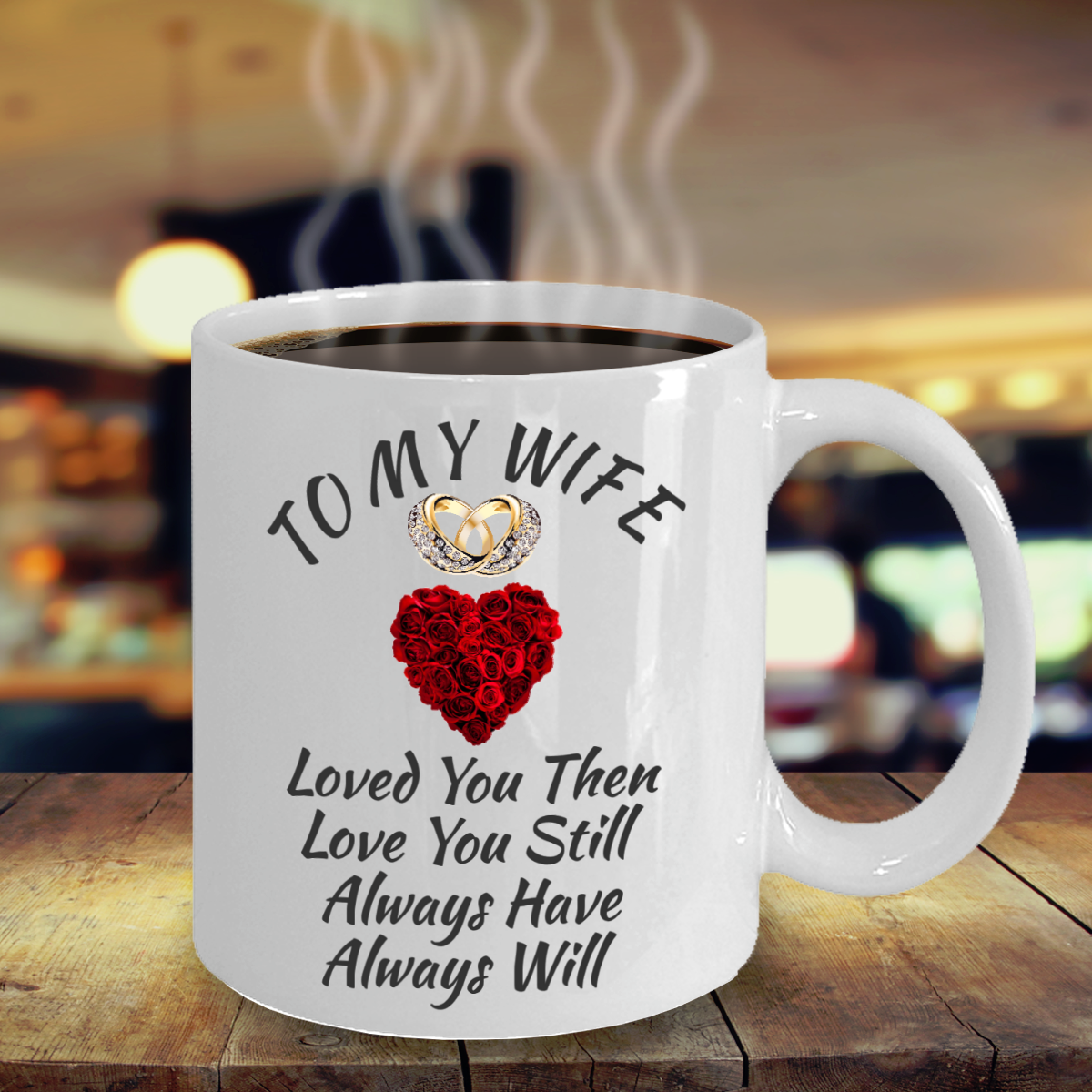 Anniversary Birthday Surprise Love Gifts For Wife Color Changing Coffee Mug