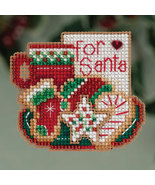 CLEARANCE For Santa Winter Holiday 2013 ornament kit cross stitch Mill Hill - $4.50