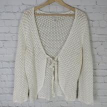 Jones New York Pull Femmes TAILLE L Blanc Eyelit Bout Ouvert - $19.40
