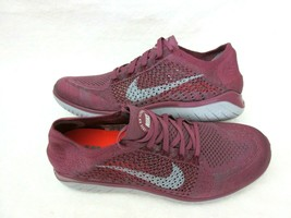Nike Mens Free RN Flyknit 2018 Running Shoes Vintage Wine Wolf Grey Size 11.5 - $98.00