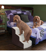 PET GEAR EASY 3 STEP DELUXE CAT DOG STAIRS PORTABLE FOR COUCH OR BED - $106.81