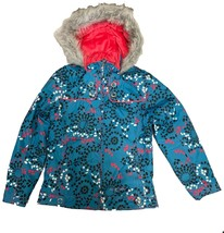 Free Country Girl's Boarder Jacket Teal/ Snowflake Designs - $42.99