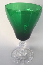 "Excellent Fostoria Colonial Dame Green* 6 1/2"" Water Goblet - $24.99"