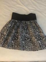 Rue 21 Sz M Flare Skater Skirt Black White Paisley - $12.86
