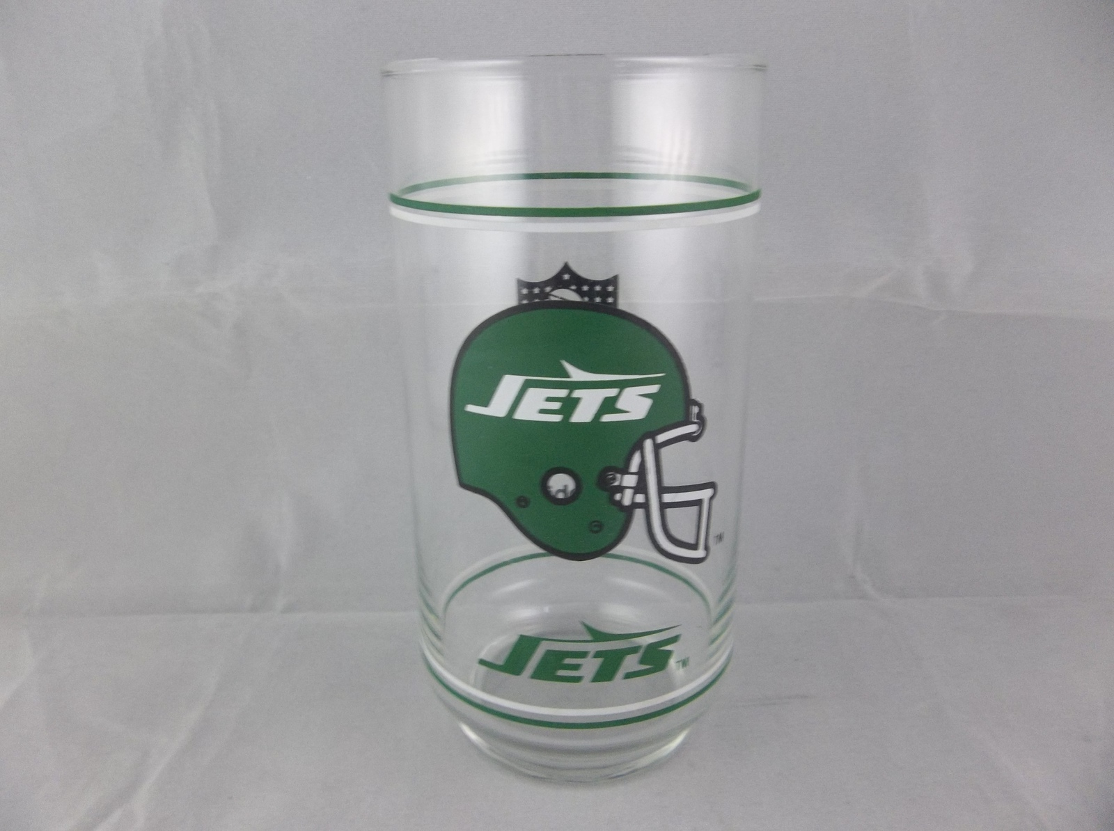 New York NY Jets Vintage 1980's Mobil Oil Gas Station Promotional Souvenir Glass - $6.00