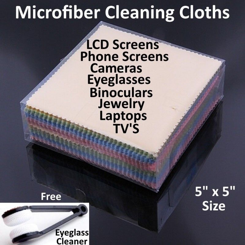 Microfiber Cleaning Cloth Laptop Camera Lens Eyeglasses TV Phone LCD Screen Lot image 1