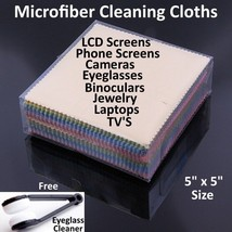 Microfiber Cleaning Cloth Laptop Camera Lens Eyeglasses TV Phone LCD Screen Lot - $1.99+
