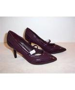 Women's DANA BUCHMAN Sage burgandy strap high heels size 7  NIB - $7.99