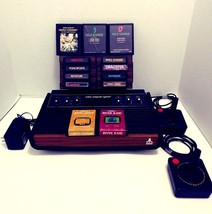 Atari CX-2600 Video Computer System w/2 Controllers and 13 Video Games - $99.99
