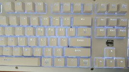 BFriend MK8 Korean English Gaming Keyboard Mechanical Plunger Switch (White) image 2