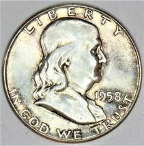 1958 Franklin Half Dollar; Nice Light Tone; Choice Uncirculated  - $44.54
