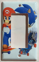 Mario Sonic Games Skateboard Light Switch outlet Wall Cover Plate Home decor image 8