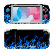 Nintendo Switch Lite Protective Vinyl Skin Wrap Blue Flame Decal  - $12.84