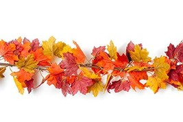 CraftMore Fall Hillcrest Maple Leaf Autumn Garland 72""