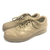 Sas Free Time Shoes Womens Size 9.5 M Beige Mocha Leather Lace Up Oxfords - $49.45
