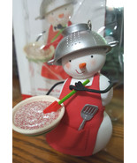 Hallmark Keepsake MERRY IN THE MAKING Snowman Chef Ornament NIB - $12.99
