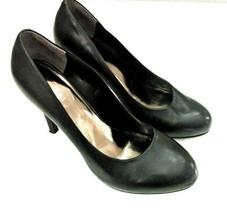 Nine West Womens Size 9 Enhancingo Black Leather Stiletto Platform Clasi... - $24.74