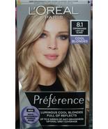 Loreal Preference COPENHAGEN 8.1 LIGHT ASH BLONDE Permanent Hair Dye COO... - $20.05