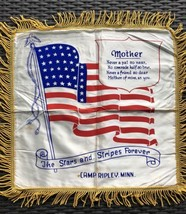 Vintage WW 2 Camp Ripley, Minnesota, Satiny pillow cover Remembrance to ... - $22.44