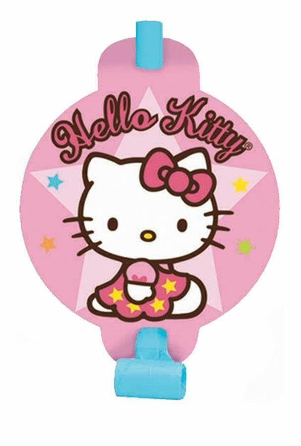 Primary image for Hello Kitty Balloon Dreams Birthday Party Favors Blowouts 8 Per Package New